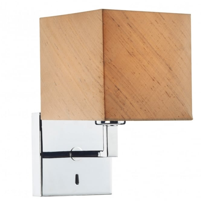 The Lighting Book ANVIL chrome wall light with shade