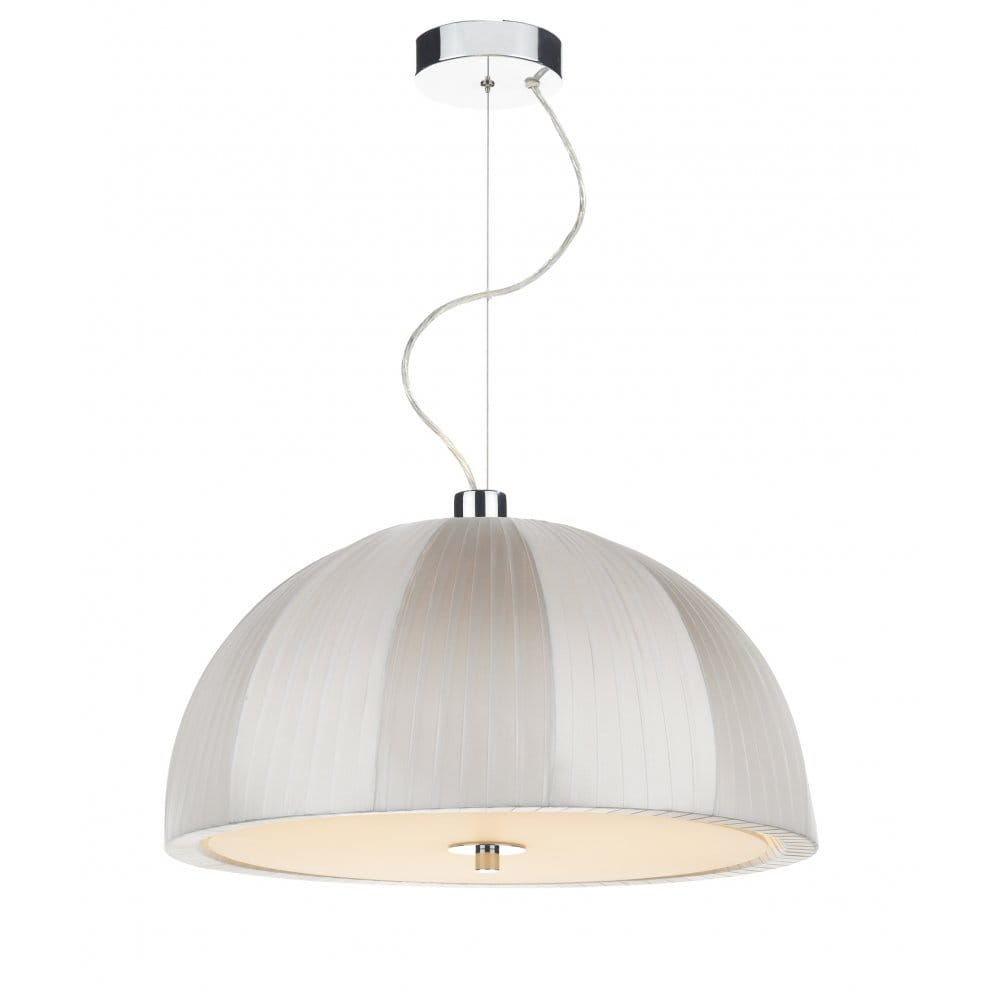 Contemporary Ivory Ceiling Pendant Light Ideal Over Table