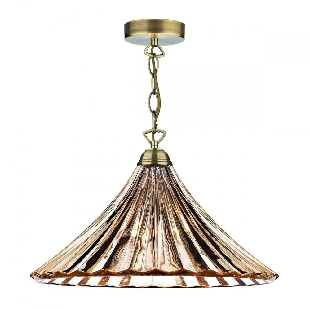 Amber Glass Single Pendant Light For Over Table