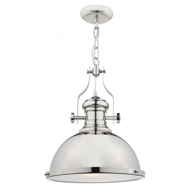 The Lighting Book ARONA nautical style polished chrome ceiling pendant
