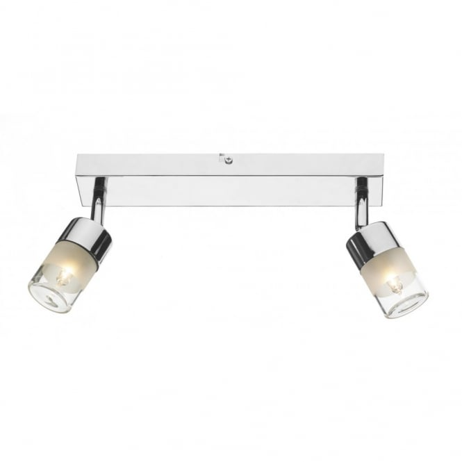 ARTEMIS modern bathroom double wall light in polished chrome