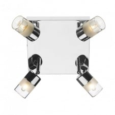 ARTEMIS modern polished chrome bathroom ceiling light (4 light)