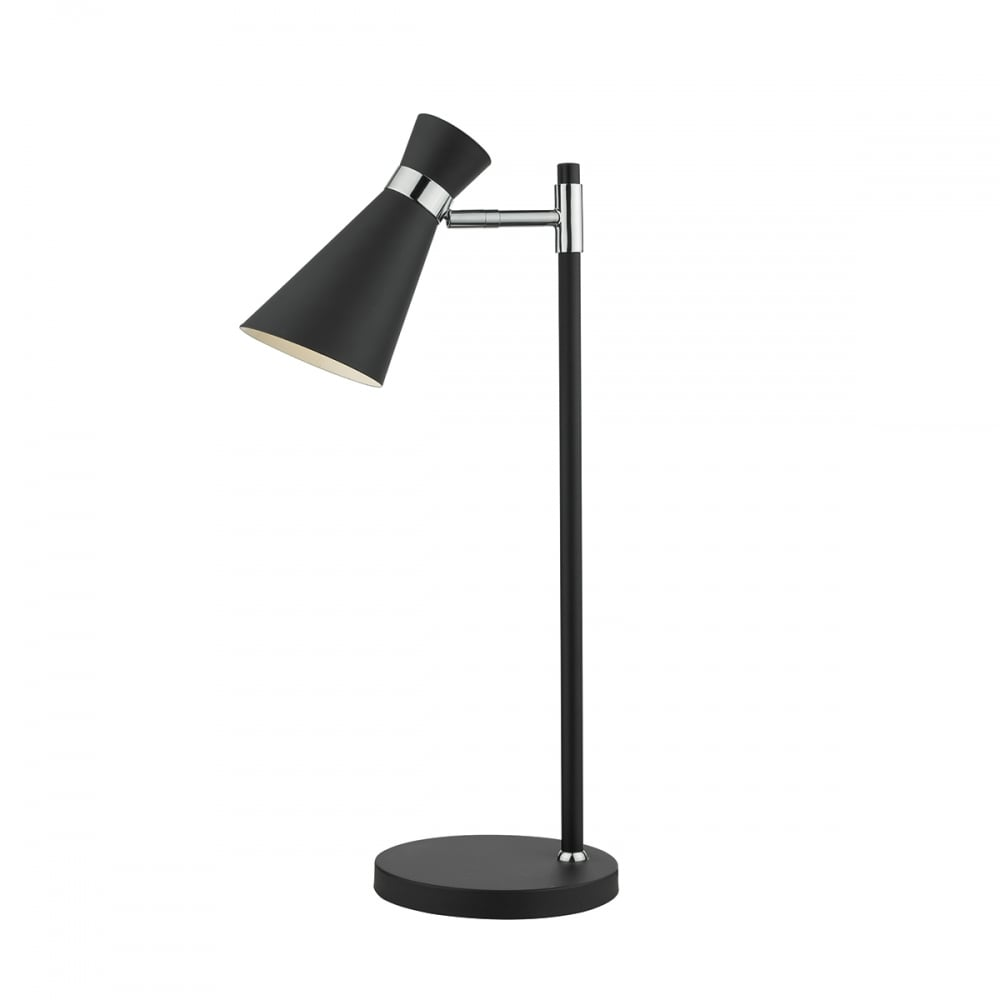 contemporary matte black and chrome desk lamp - contemporary matte black and polished chrome desk lamp