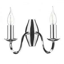 ATHOL Double Wall Light Polished Nickel. An elegant candle style wall sconce.