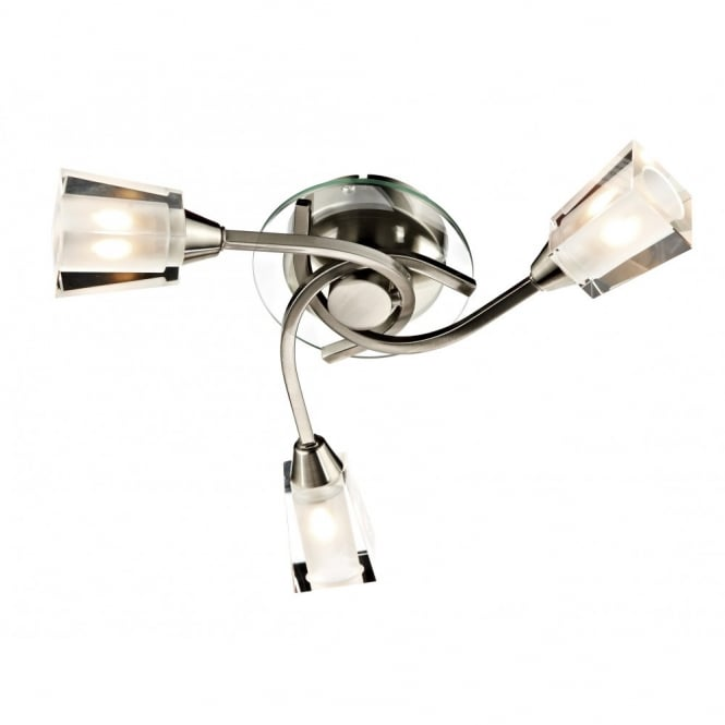 AUSTIN compact satin chrome light for low ceilings