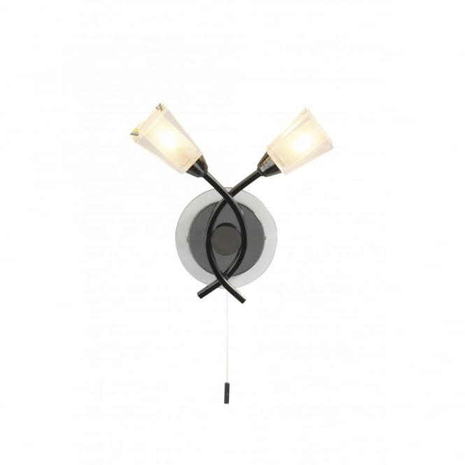 The Lighting Book AUSTIN modern black chrome wall light