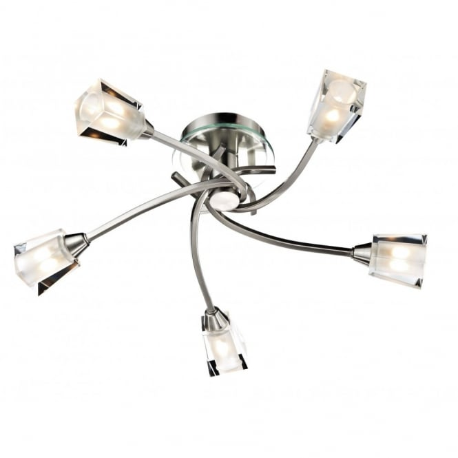 The Lighting Book AUSTIN modern satin chrome light for low ceilings