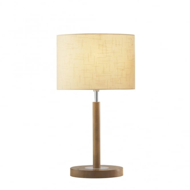 light wooden table lamp with cream shade elegant classic styling. Black Bedroom Furniture Sets. Home Design Ideas
