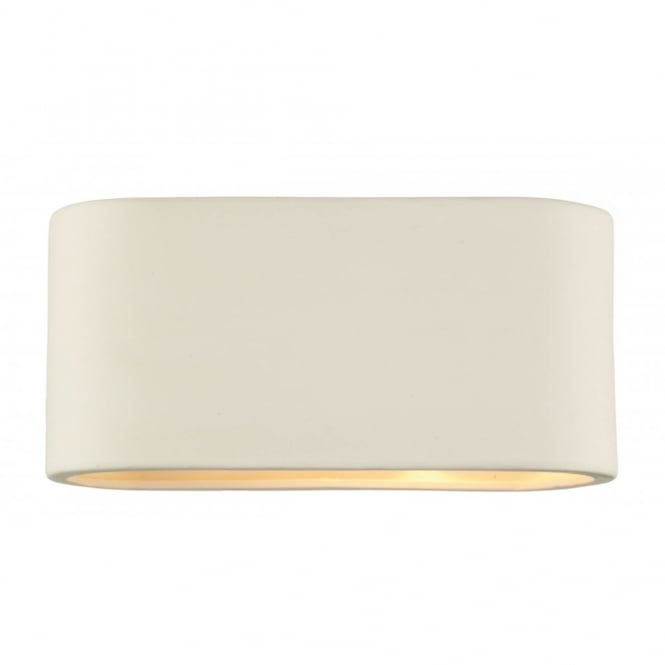 Axton Double Insulated Matt White Ceramic Wall Light