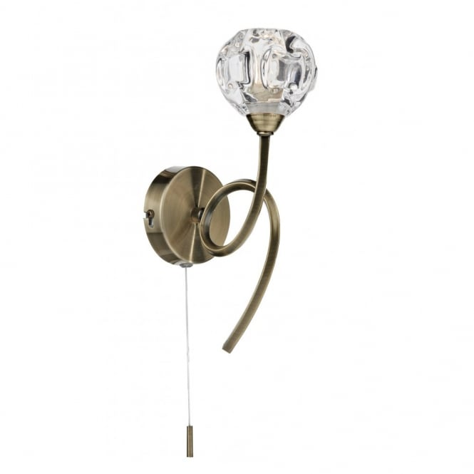 The Lighting Book BABYLON single antique brass wall light