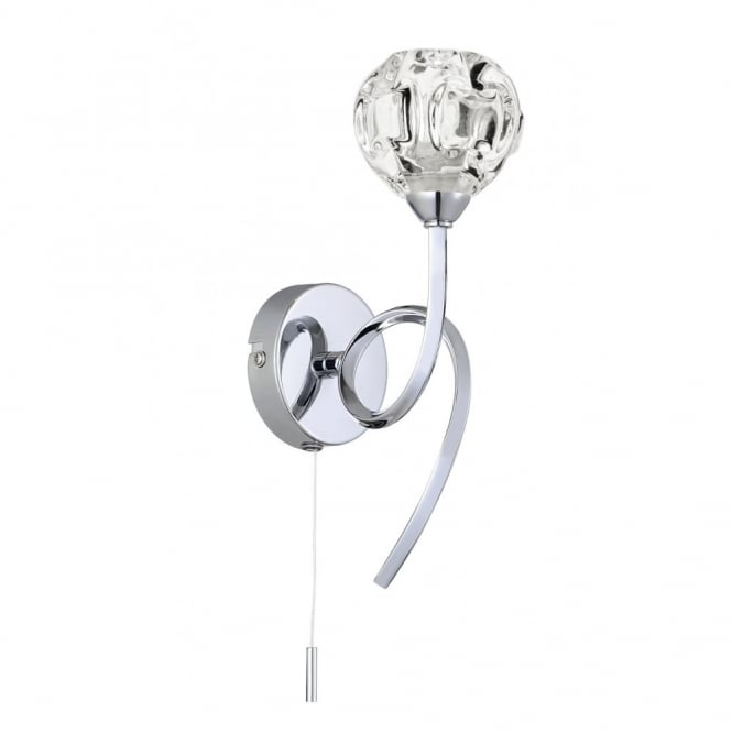 BABYLON single polished chrome wall light