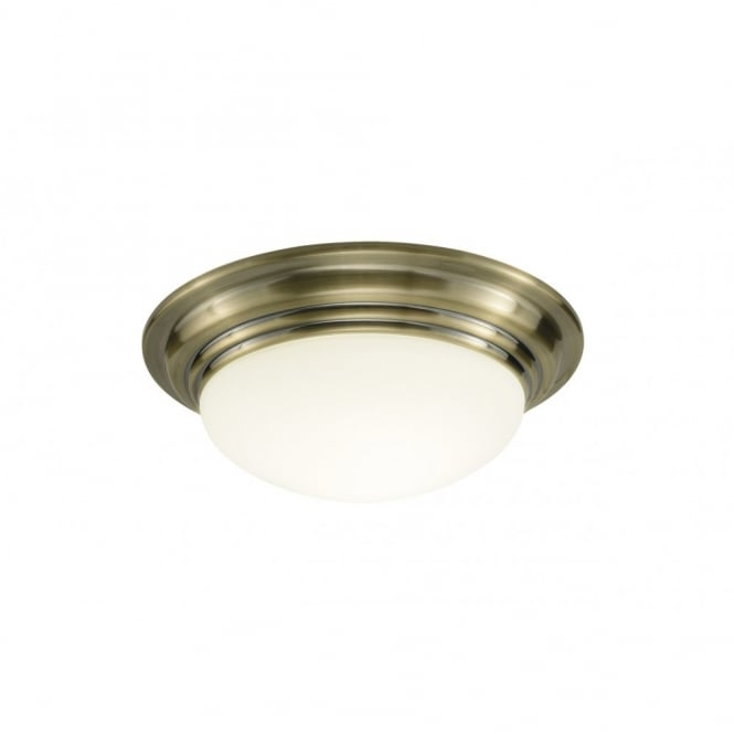 The Lighting Book BARCLAY small antique brass bathroom ceiling light
