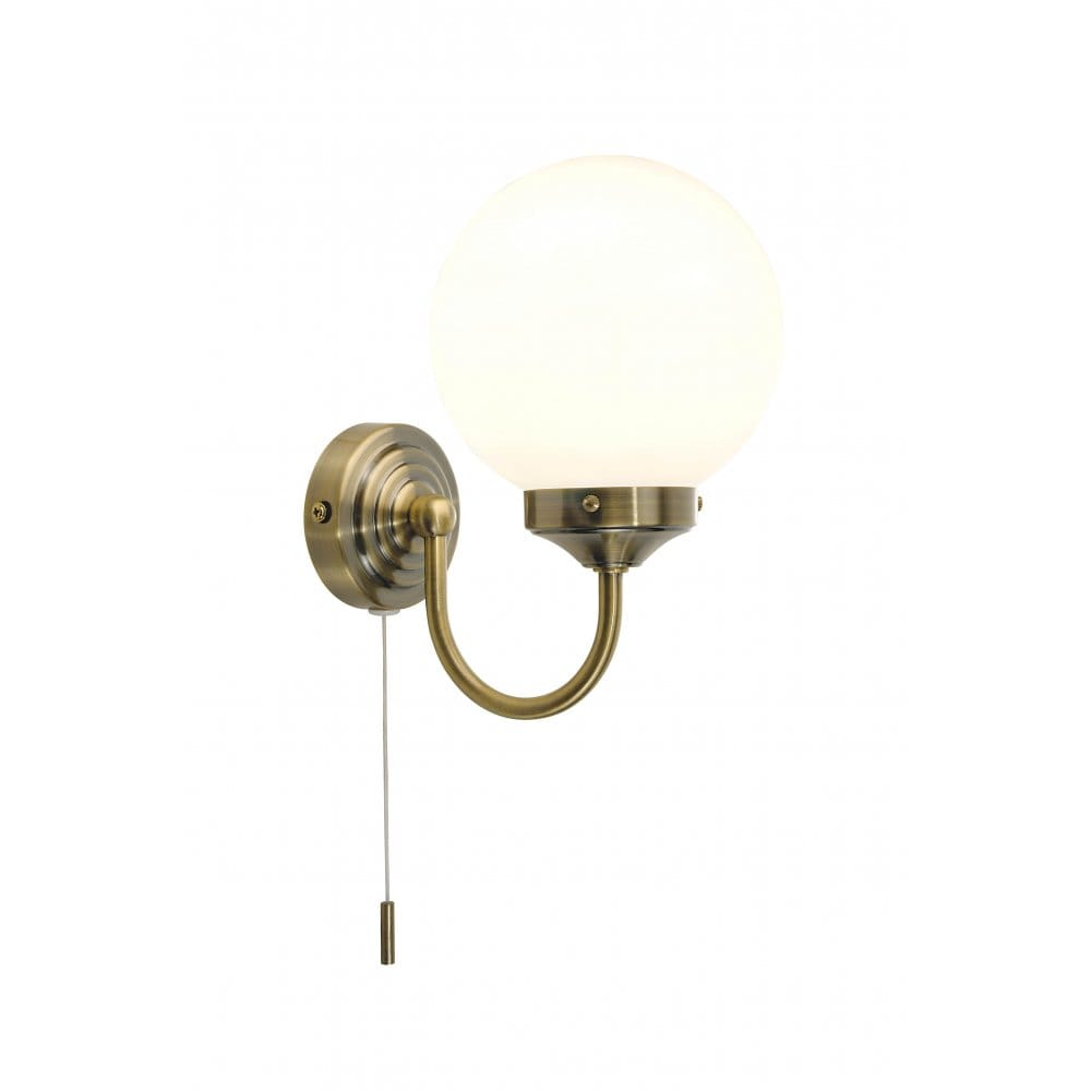 Traditional Bathroom Wall Lamps : Barclay Traditional Antique Brass Bathroom Wall Light, IP44 wall light