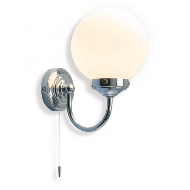The Lighting Book BARCLAY traditional chrome bathroom wall light