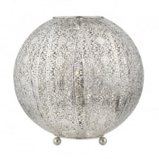 BAZAR antique silver filigree globe table lamp