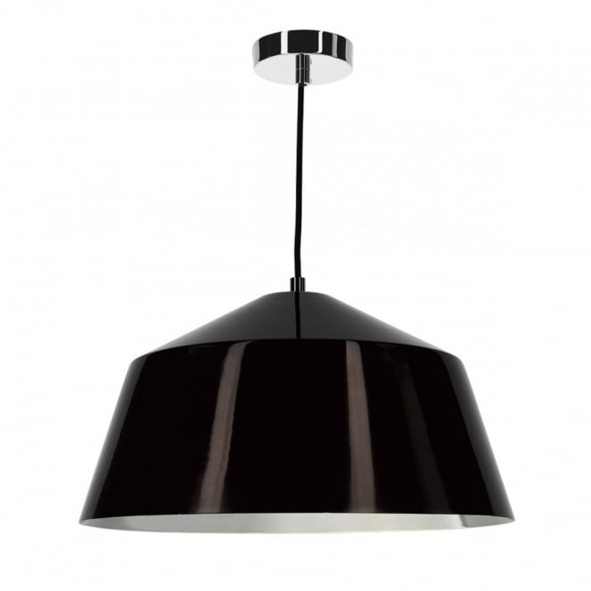 The Lighting Book BEY modern dark bronze ceiling pendant with chrome lining