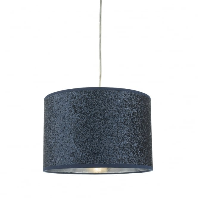 BISTRO easy fit pendant shade in navy blue glitter finish