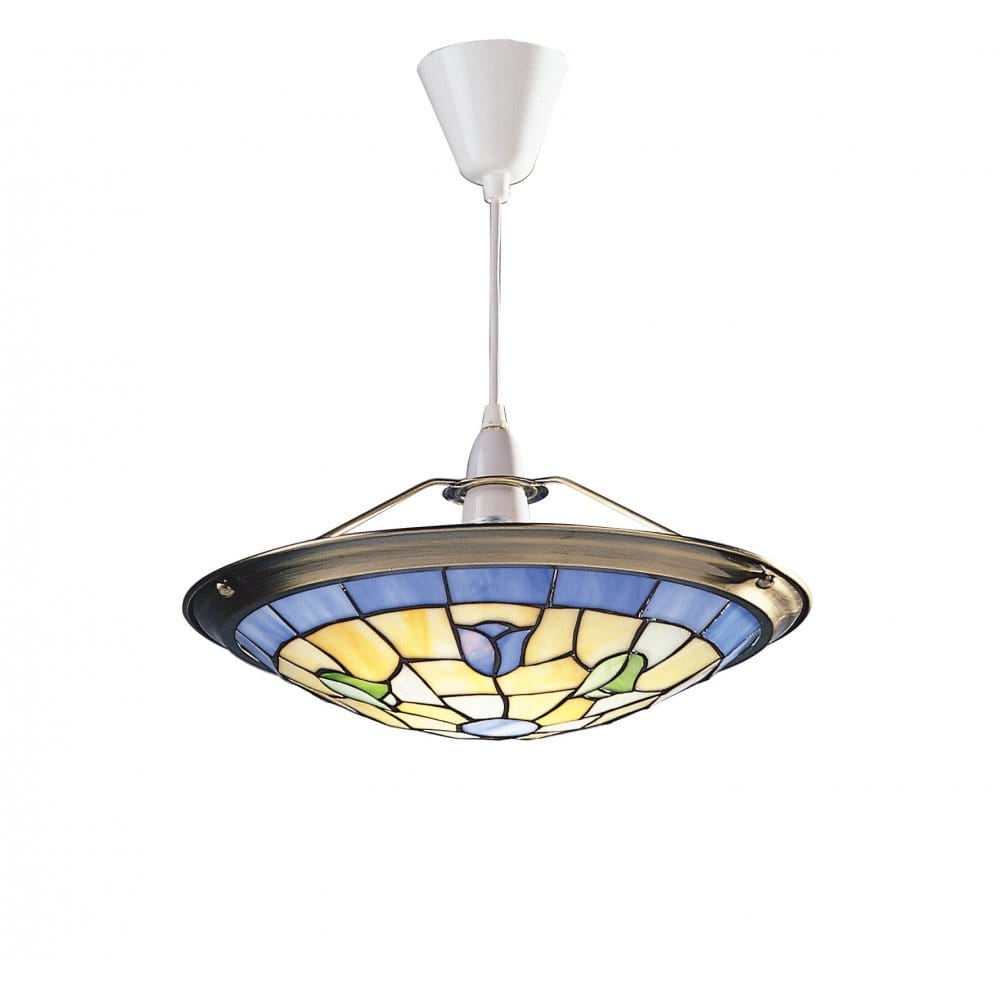 Ceiling Lights Company : Bluebell easy fit tiffany uplighter ceiling light