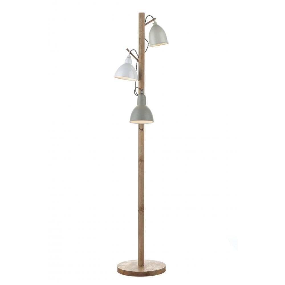 Traditional wooden floor lamp in coat rack design double Wood floor lamp