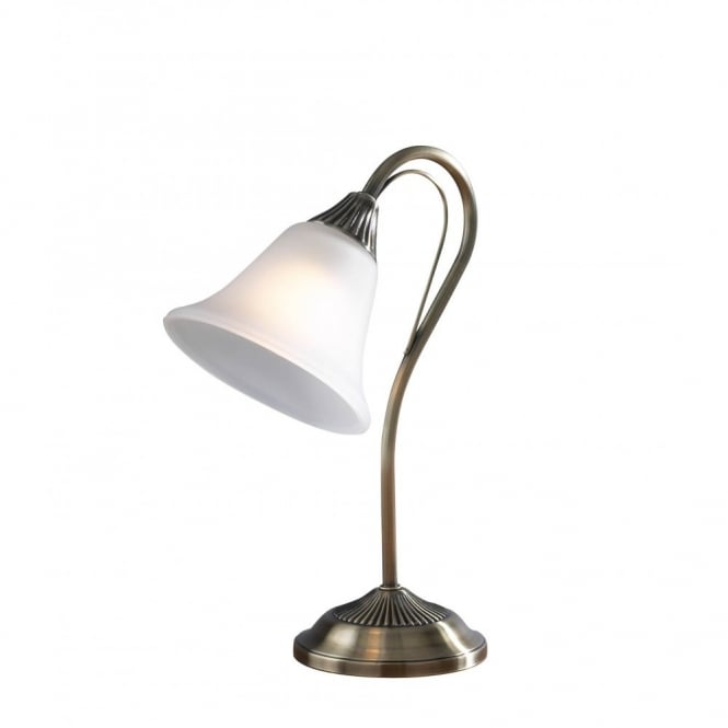 Small edwardian or regency table lamp or desk light in for Glass bedside lamp shades