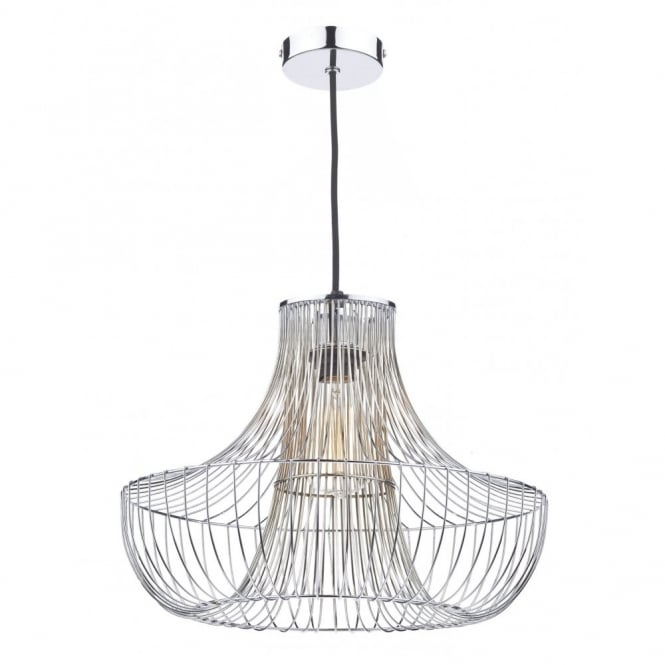The Lighting Book BRYCE polished chrome cage design non electric ceiling pendant