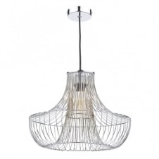 BRYCE polished chrome cage design non electric ceiling pendant