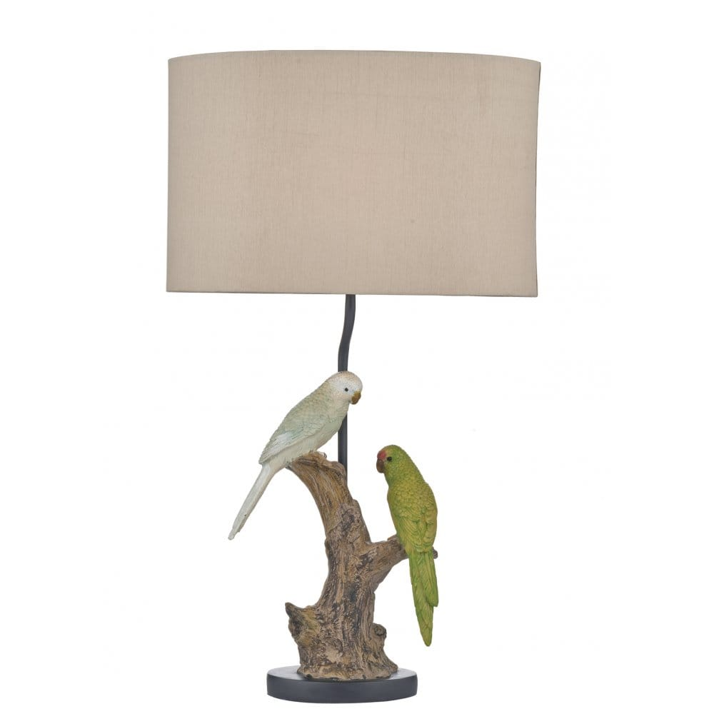 Bird Lamp Shade: Decorative Budgie Table Lamp With Shade