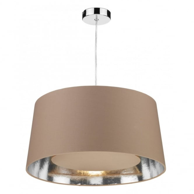 The Lighting Book BUGLE easy fit taupe ceiling light shade