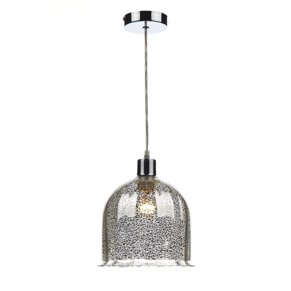 Contemporary Antique Silver Patterned Ceiling Pendant Shade