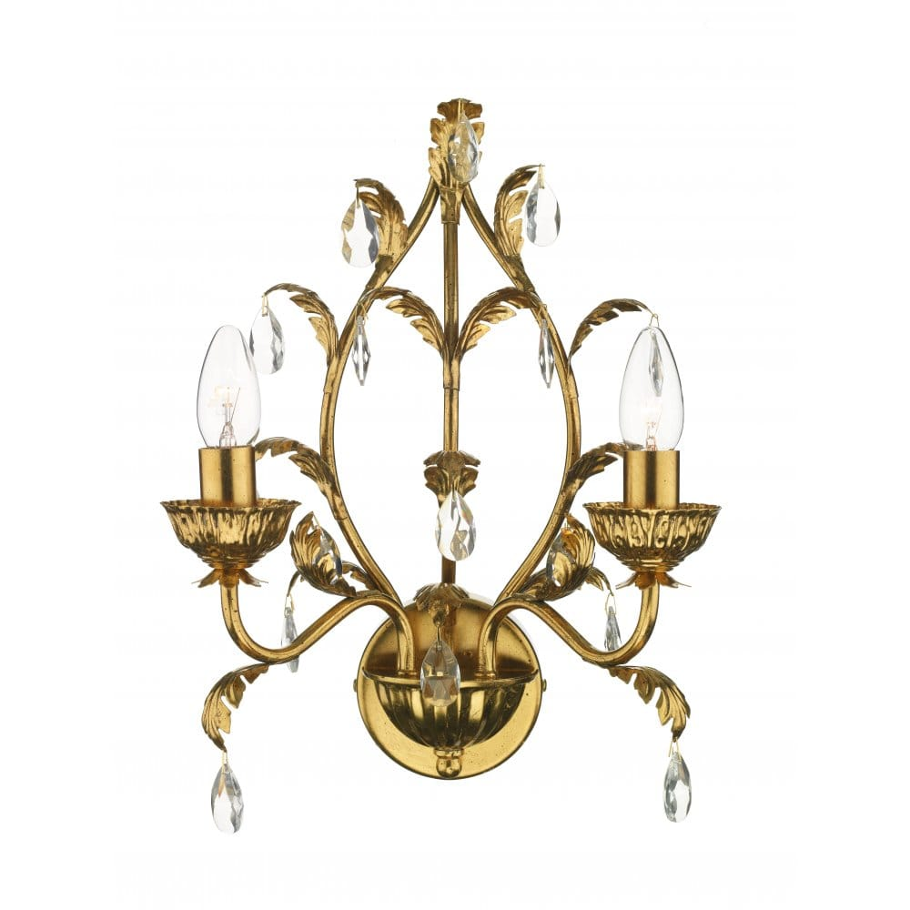 Traditional Charleston Antique Gold Wall Light to Match Chandelier