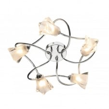 CICERO 5 light flush ceiling light for low ceilings