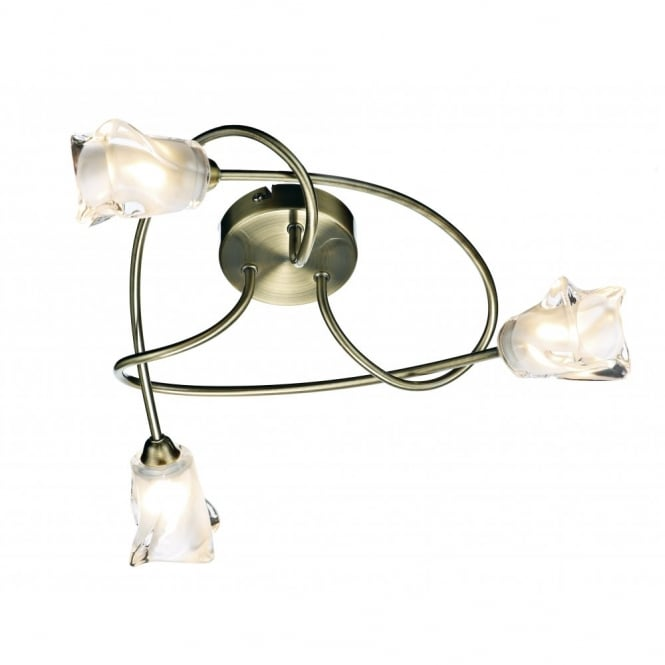 The Lighting Book CICERO antique brass low ceiling light