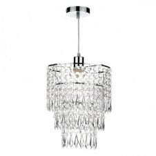CILLA decorative non electric pendant shade with clear droplets