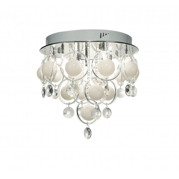 Cloud Chrome Amp Crystal Ceiling Light For Low Ceilings