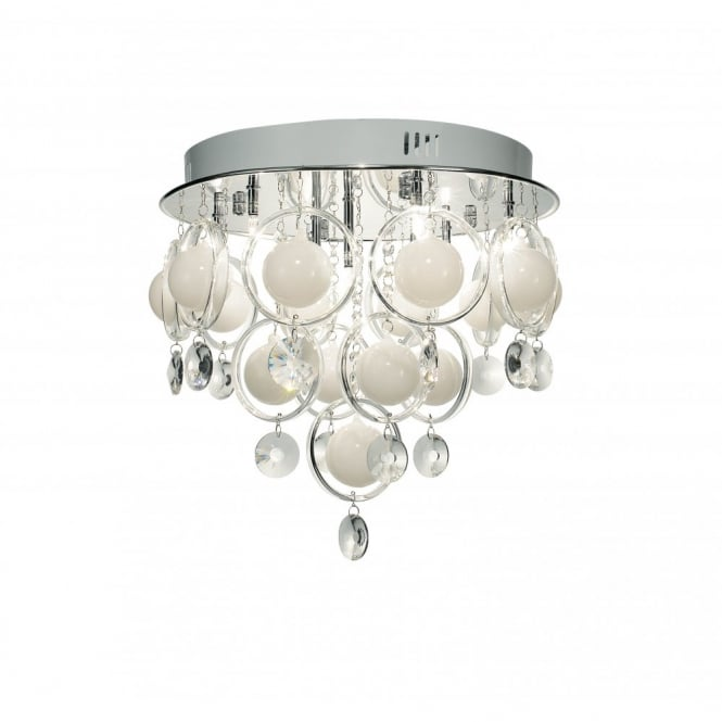 Cloud chrome crystal ceiling light for low ceilings cloud circular chrome and crystal light for low ceilings aloadofball Gallery