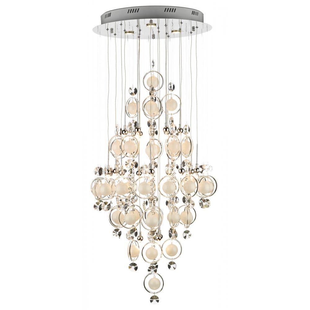 Cloud cascade large modern light for high ceilings for Pendant lighting for high ceilings