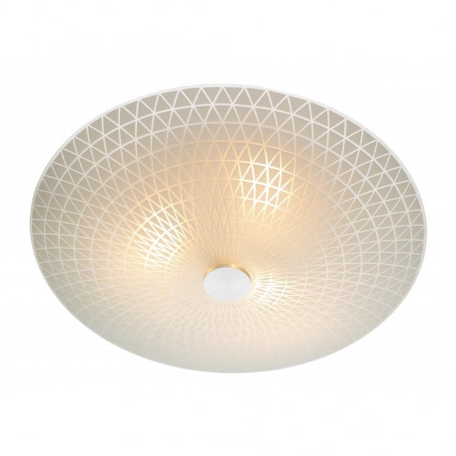COLBY circular flush ceiling light for low ceilings