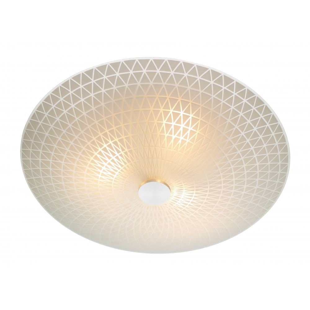 Ceiling Lights Company : Colby circular frosted glass flush ceilling light
