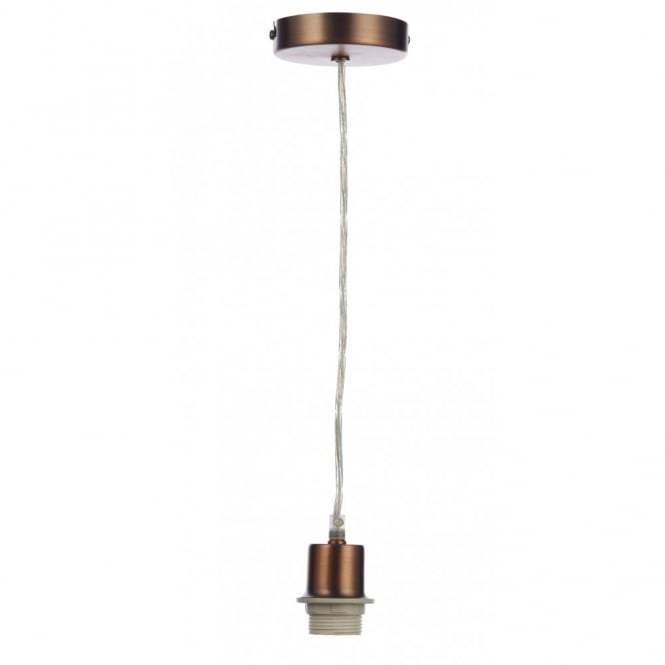 Copper Pendant Light Suspension Set To Fit ES Bulbs Clear