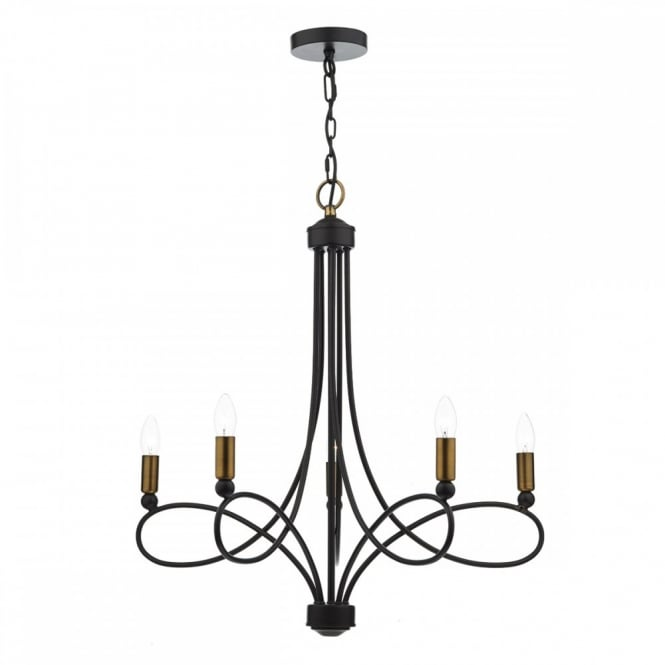 The Lighting Book COSWORTH decorative modern ceiling pendant in dark bronze with copper accents