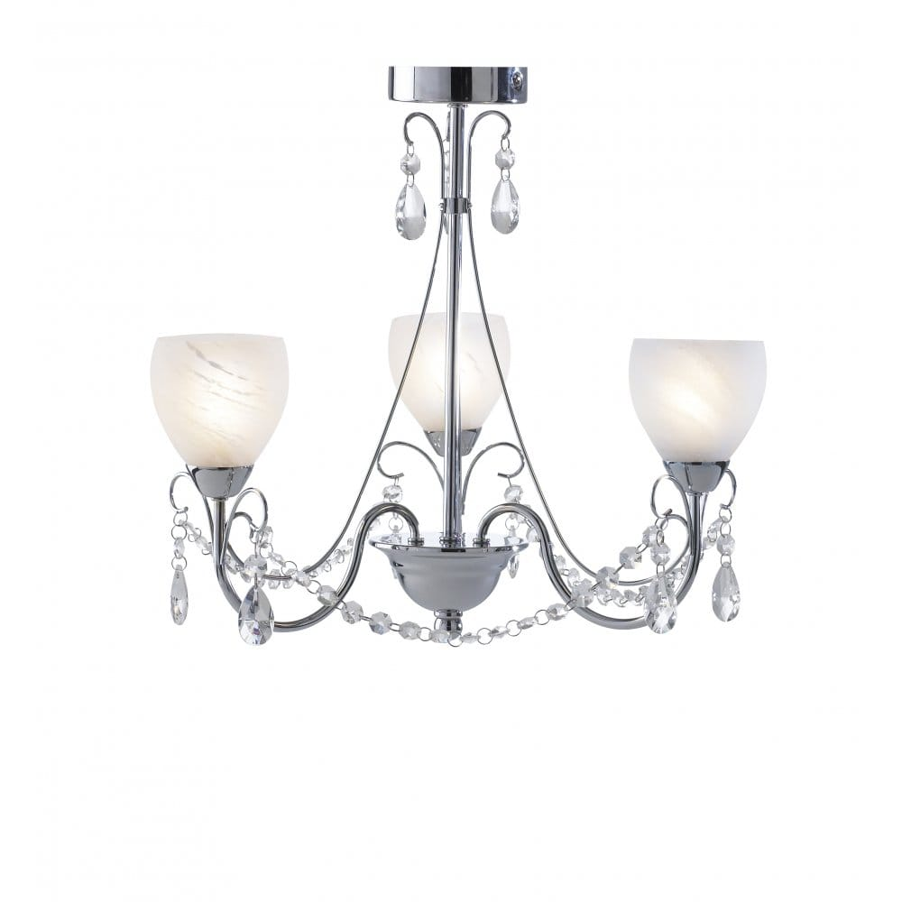 Crawford traditional bathroom ceiling light ip44 - Small bathroom chandelier crystal ...
