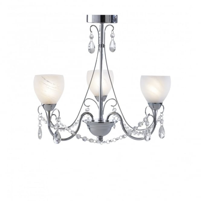 The Lighting Book CRAWFORD 3 light bathroom chandelier ceiling light IP44