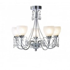 CRAWFORD IP44 5 light bathroom chandelier