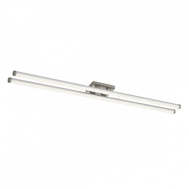 The Lighting Book CUISINE large modern LED flush tube ceiling light (satin chrome)