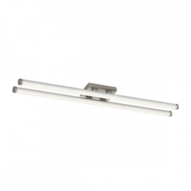 The Lighting Book CUISINE small modern LED flush tube ceiling light (satin chrome)