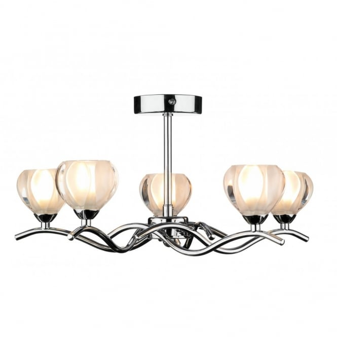 CYNTHIA 5 light chrome ceiling light