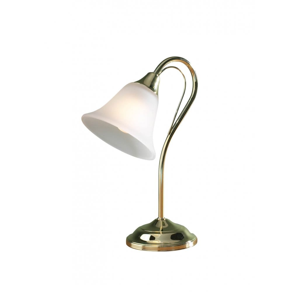 Short Floor Reading Lamps : Small gold brass plated table lamp or desk light opal glass shade