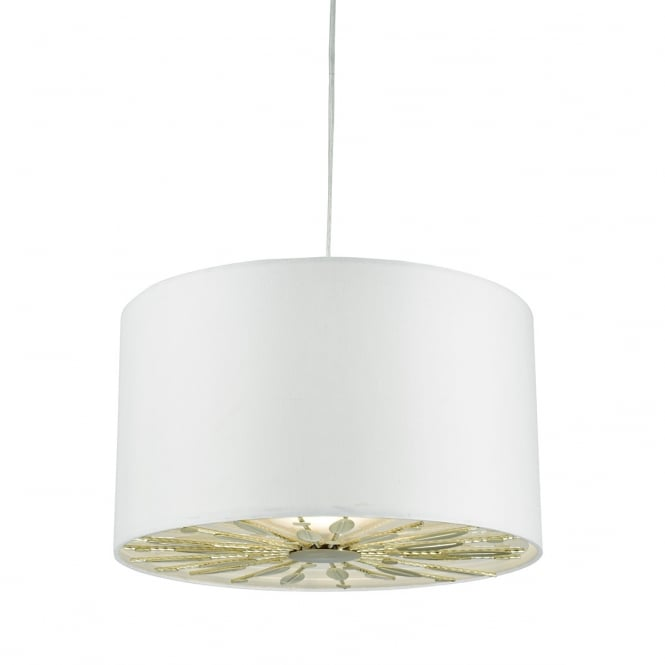 The Lighting Book DESTINY easy fit pendant shade in ivory with gold insert