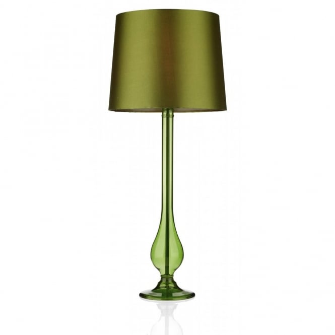 DILLON transparent sage green glass table lamp