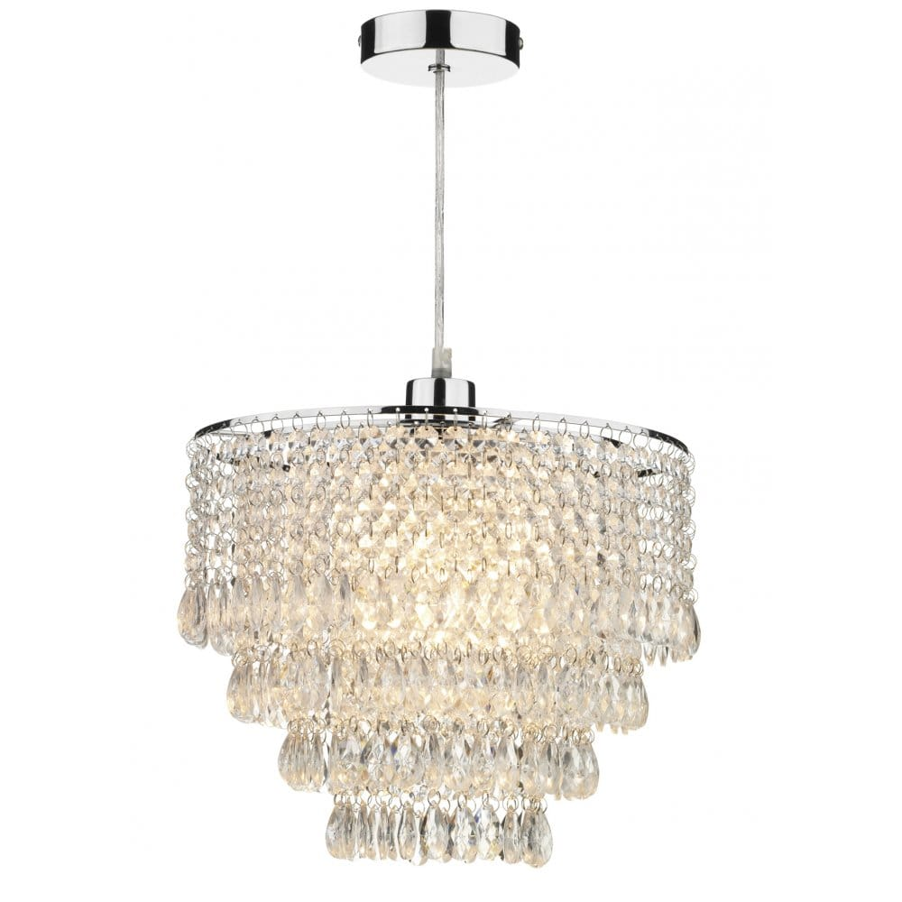 Lamp Shades For Ceiling Lights: Chandelier Lighting Dionne Easy Fit Ceiling Light Shade